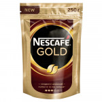 NESCAFE GOLD Кофе натуральный растворимый сублимированный с добавлением натурального жаренного молотого кофе 250 г