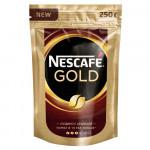 Кофе натуральный растворимый сублимированный Gold NESCAFE, с добавлением натурального жаренного молотого кофе, 250 г