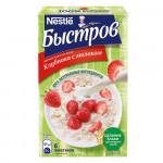 Каша БЫСТРОВ овсяная Клубника с молоком без варки, 6х40 г