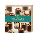 Комильфо(R). Миндаль и крем-карамель. Конфеты шоколадные с двухслойной начинкой. 232г