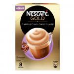 Кофейный напиток NESCAFE Gold Cappuccino растворимый с молочной пенкой, 8х22г