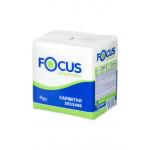Салфетки бумажные FOCUS 1 слойная 100 шт