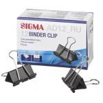 Зажим для бумаги SIGMA, 41 мм, 12 шт.