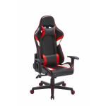 Кресло гоночное SA-R-8, красное/черное