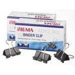 Зажим для бумаги SIGMA, 32 мм, 12 шт.