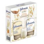 Подарочный набор лосьон медово-овсяный + гель для душа JOHNSON