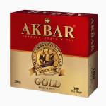 Чай черный AKBAR Золотая серия, 100х2 г