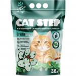 Наполнитель CAT STEP Crystal Fresh Mint впитывающий силикагелевый, 3,8 л