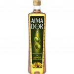 Масло растительное ALMADOR Extra Virgin подсолнечное и оливковое нерафинированное, 0,79 л