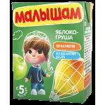 Нектар МАЛЫШАМ Яблоко-груша, 0,2 л