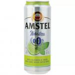 Пиво безалкогольное AMSTEL, Лайм и мята, ж/б, 0,43 л