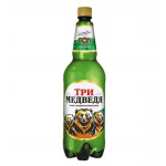 Пиво ТРИ МЕДВЕДЯ Светлое, 1,3 л