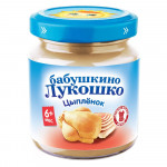Пюре БАБУШКИНО ЛУКОШКО из цыпленка, 100 г