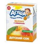 Детский сок АГУША Яблоко с мякотью, 200 мл