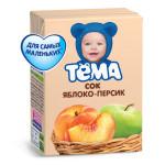 Сок ТЕМА Яблоко-персик, 200 г