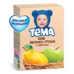 Сок ТЕМА Яблоко-груша с мякотью, 200 г