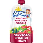 Пюре АГУША Яблоко-клубника-малина, 90 г