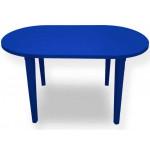 Стол овальный, темно-синий